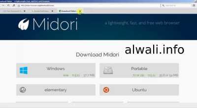 تحميل متصفح ميدوري Midori browser للكمبيوتر
